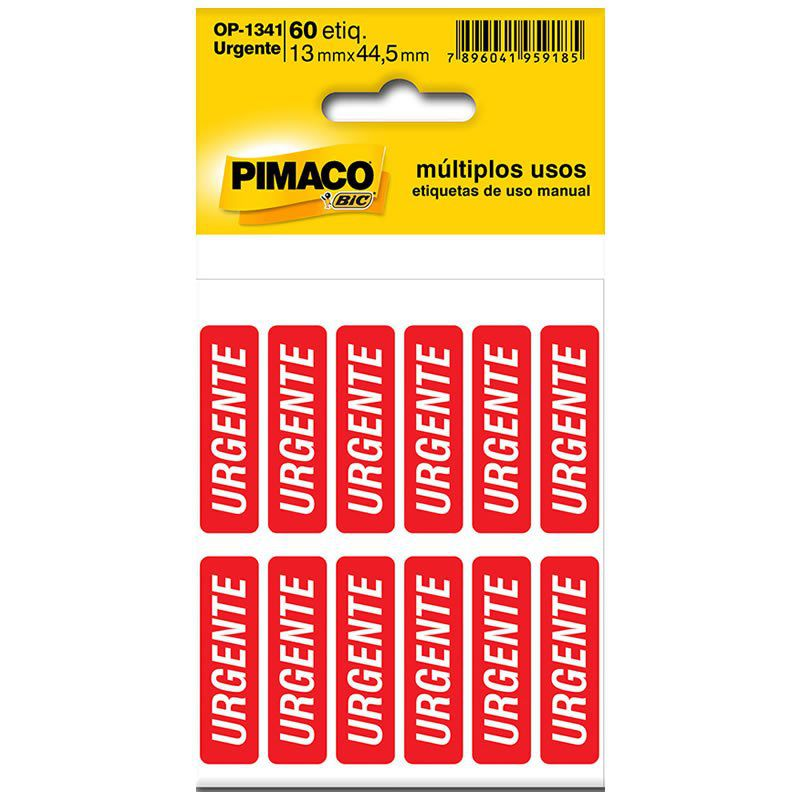 Etiqueta Pimaco Autoadesiva Urgente 886592 02204