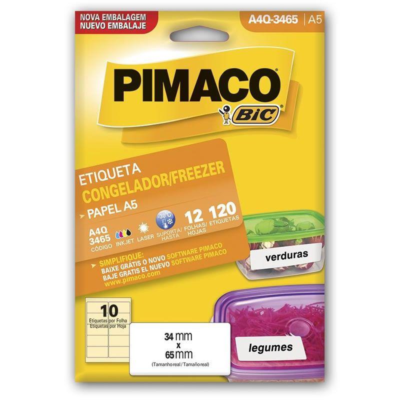 Etiqueta Pimaco Congelador / Freezer 34,0X65,0Mm Com 12 Fls 4A5-Q3465 18509