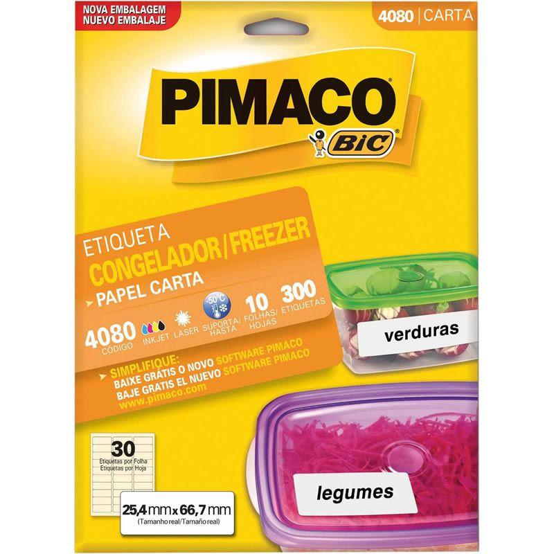 Etiqueta Pimaco Congelador / Freezer Carta 25,4X66,7Mm Com 300 Un 4080 18507