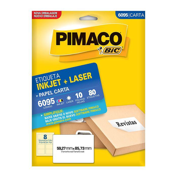 Etiqueta Pimaco Inkjet + Laser - 6095 07758