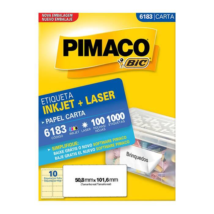 Etiqueta Pimaco Inkjet + Laser - 6183 00797