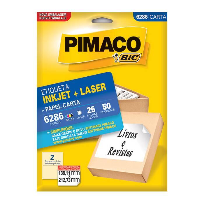 Etiqueta Pimaco Inkjet + Laser - 6286 00330