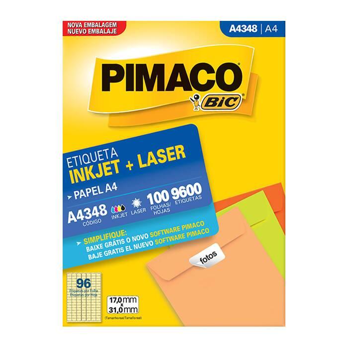 Etiqueta Pimaco Inkjet + Laser - A4348 02178