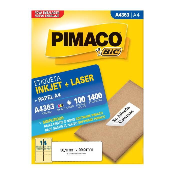 Etiqueta Pimaco Inkjet + Laser - A4363 00437
