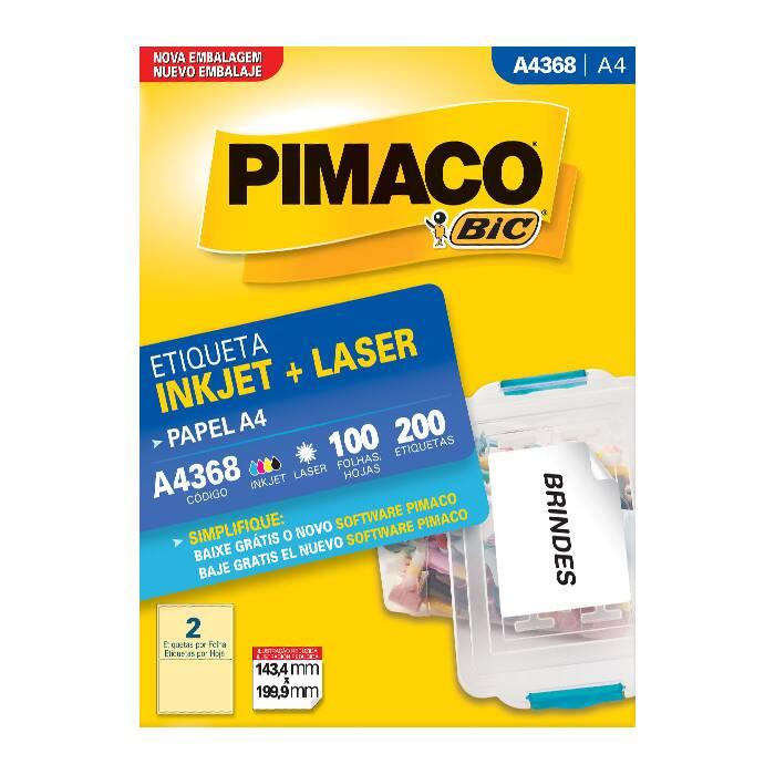 Etiqueta Pimaco Inkjet + Laser - A4368 08128