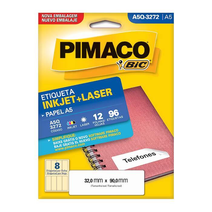 Etiqueta Pimaco Inkjet + Laser - A5Q3272 02195