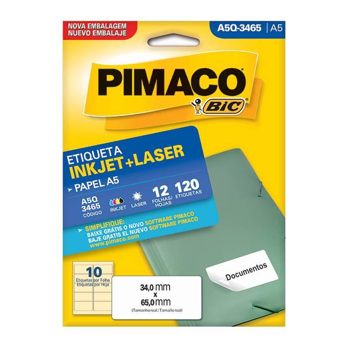 Etiqueta Pimaco Inkjet + Laser - A5Q3465 09649