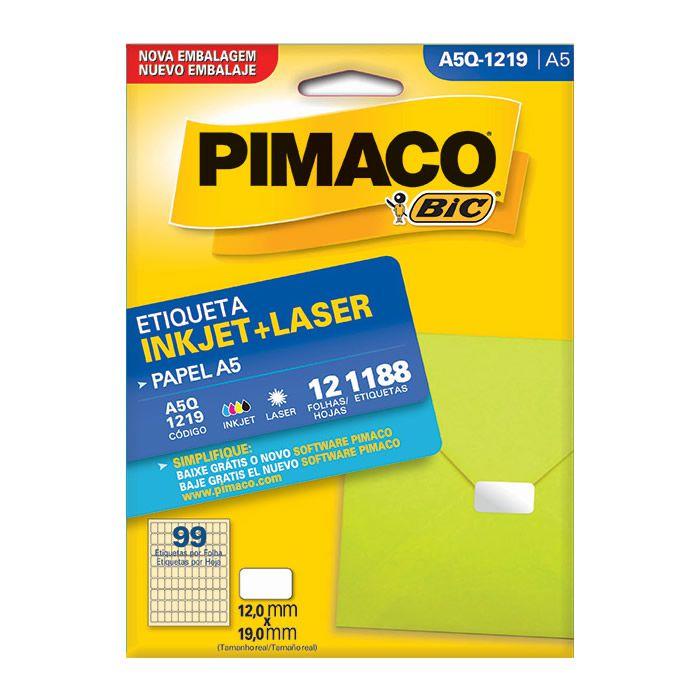 Etiqueta Pimaco Inkjet + Laser - A5Q-1219 02185
