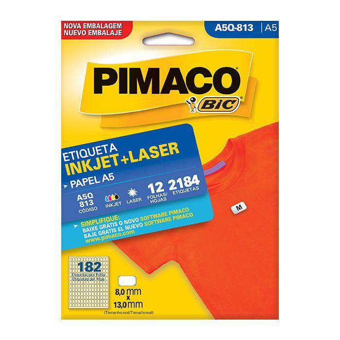 Etiqueta Pimaco Inkjet + Laser - A5Q-813 08088
