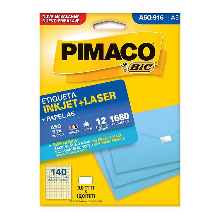 Etiqueta Pimaco Inkjet + Laser - A5Q-916 02198