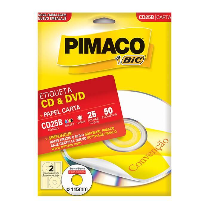 Etiqueta Pimaco Inkjet + Laser - Cd25B 07764