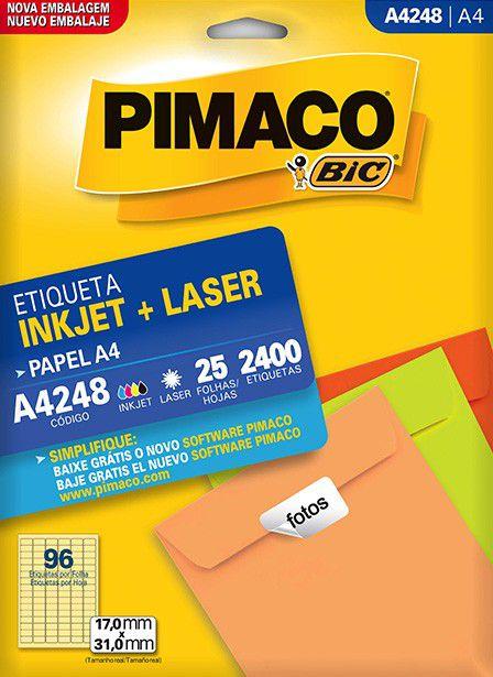 Etiqueta Pimaco Laser 2400 Un 17X31Mm A4248 00095