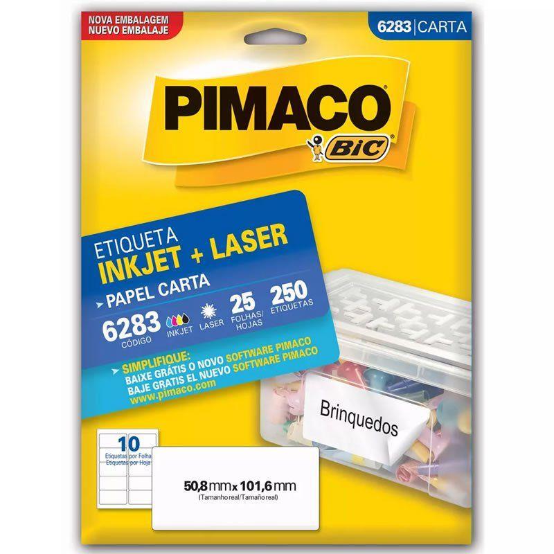 Etiqueta Pimaco Laser 250 Un 50.8X101.6Mm 6283 00108