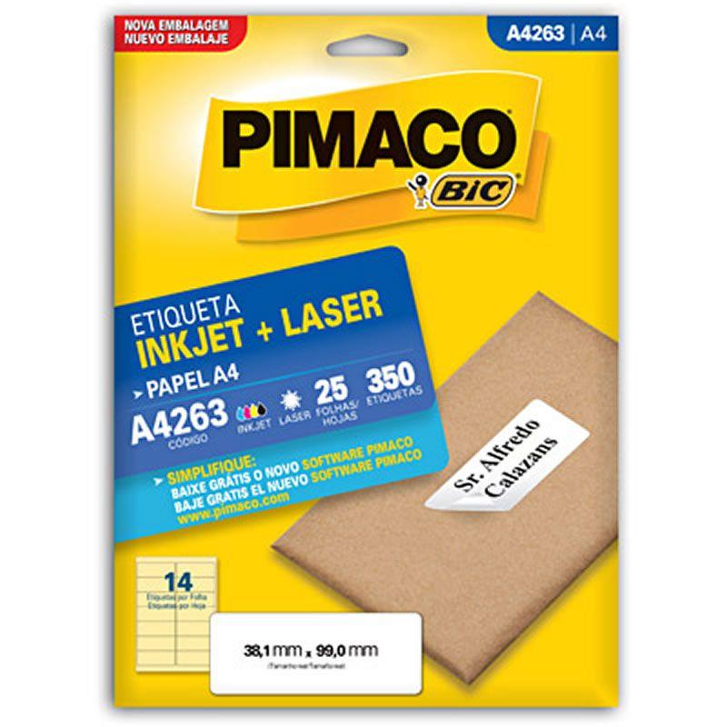 Etiqueta Pimaco Laser 38,1X99Mm Com 350 Un A4263 02176