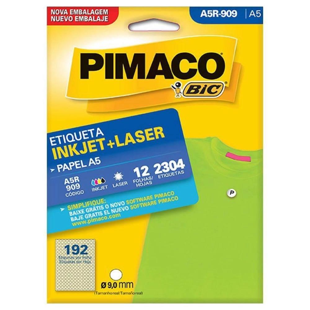 Etiqueta Pimaco Laser Envelope 12 Fls 9mm A5R909 07509