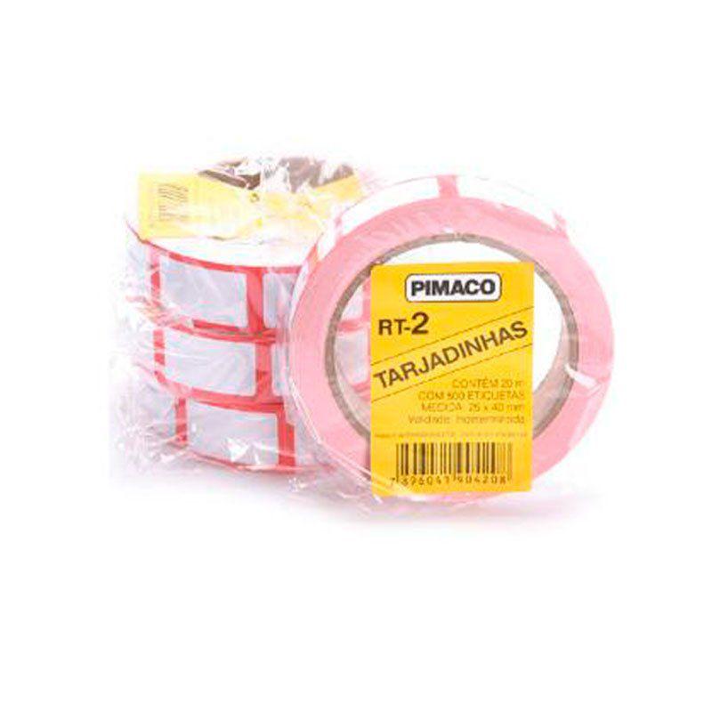 Etiqueta Pimaco Para Preço RT-2 25X40Mm 500 Un 924868 02208