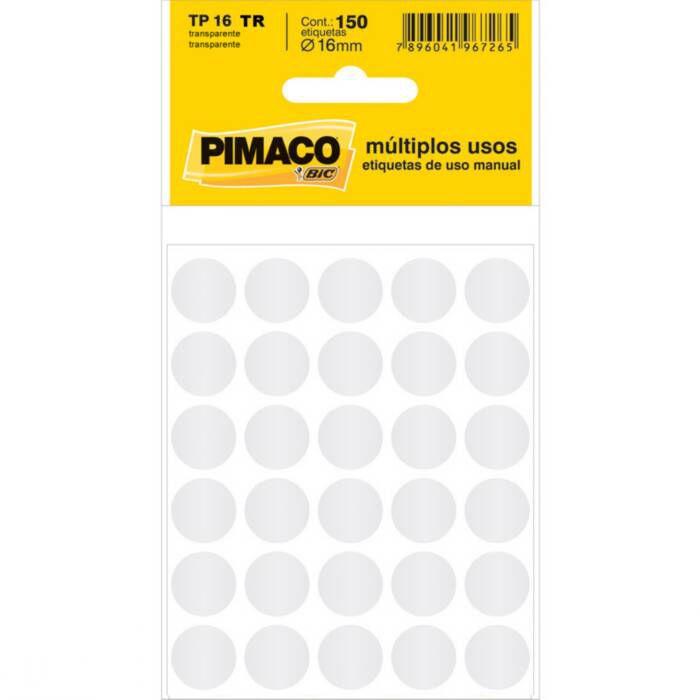 Etiqueta Pimaco Tp 16 Tr Transparente Redonda 14657