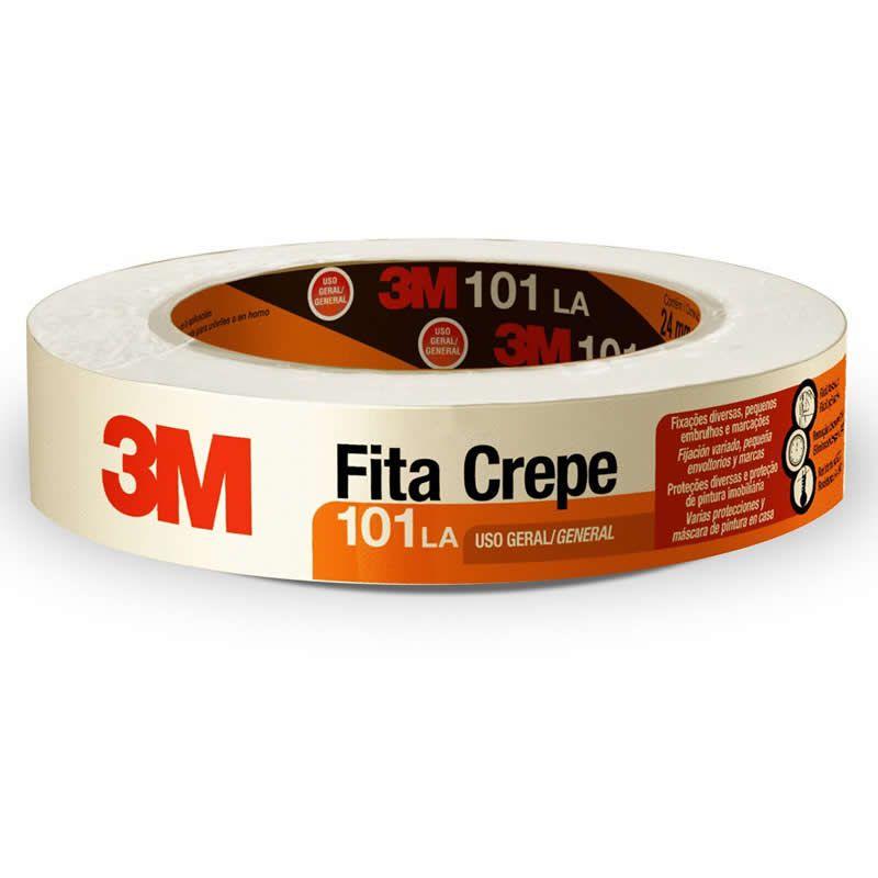 Fita Crepe 3M™101LA - Rolo 24 mm x 50 m 22835