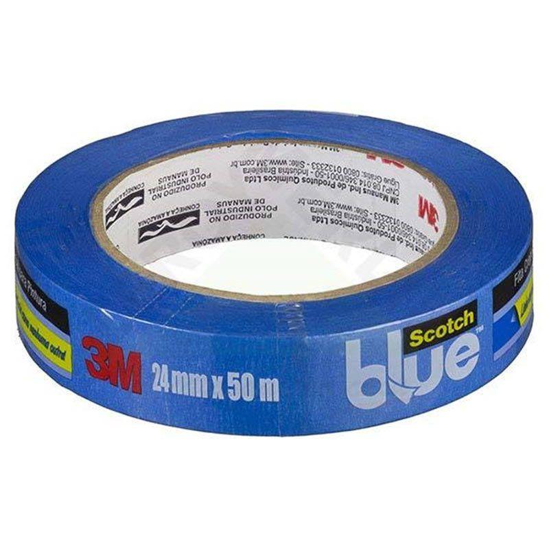 Fita Crepe Profissional 3M Scotch® Blue - 24 mm x 50 m 26036