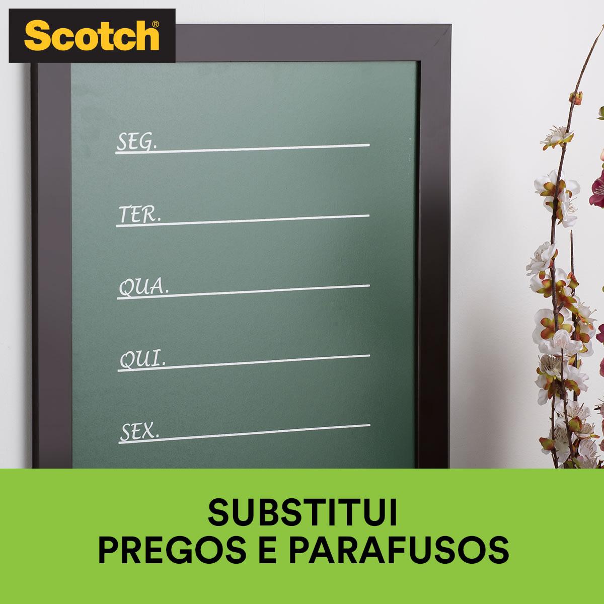 Fita Dupla Face 3M Scotch® Fixa Forte Espuma - Uso Interno - 12 mm x 1,5 m 10149