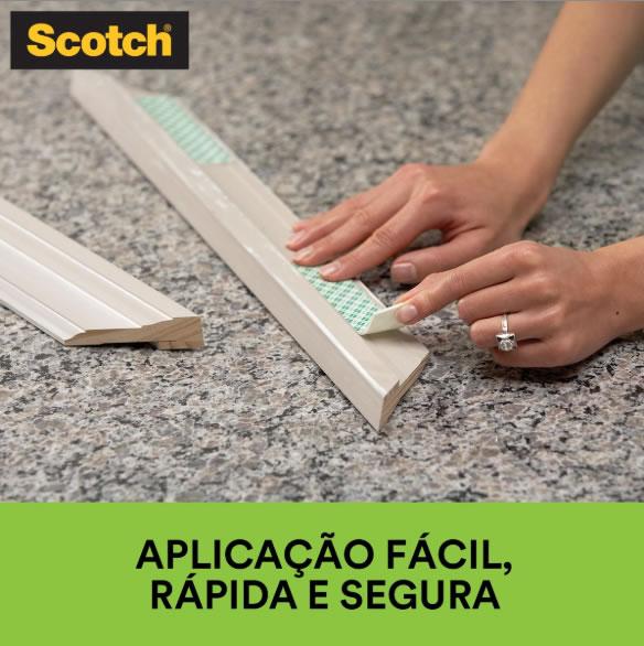 Fita Dupla Face 3M Scotch® Fixa Forte Espuma - Uso Interno - 19 mm x 10 m 12589