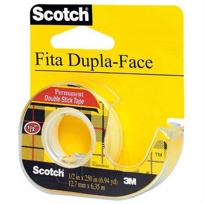 Fita Dupla Face Scotch 12,7mm X 6,35m 24664