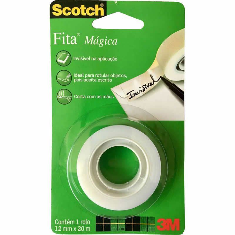 Fita Magica 810 12mm X 20m 3M Scotch 25820