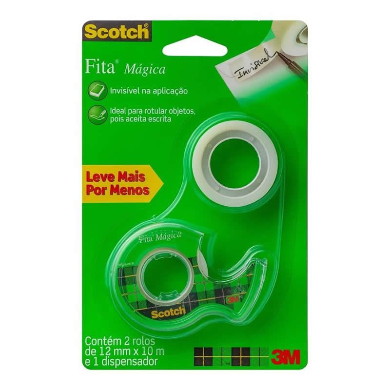Fita Mágica 3M Scotch 12mm X 10m 27200