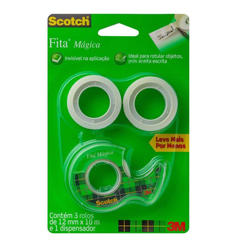 Fita Mágica 3M Scotch 12mm X 10m 27201
