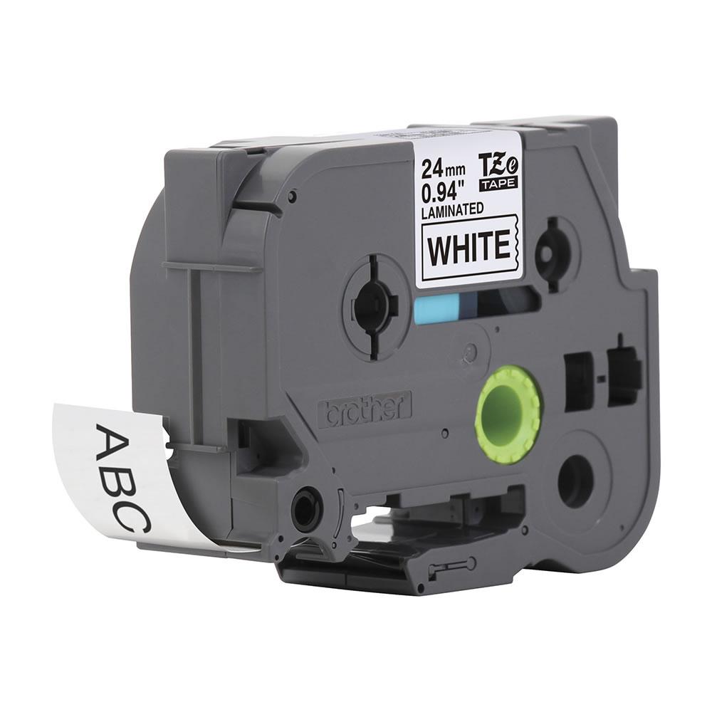 Fita Rotulador Brother Ecológica 24mm Preto/Branco  Tze251Eu 20838