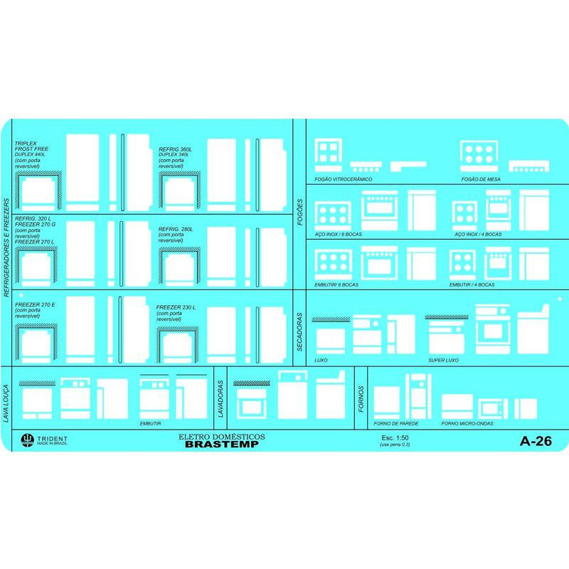 Gabarito Trident Arquitetura A-26 Eletrodomésticos 17072