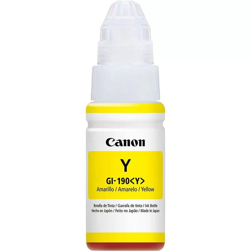 Garrafa de Tinta Canon GI-190 Amarelo 26226