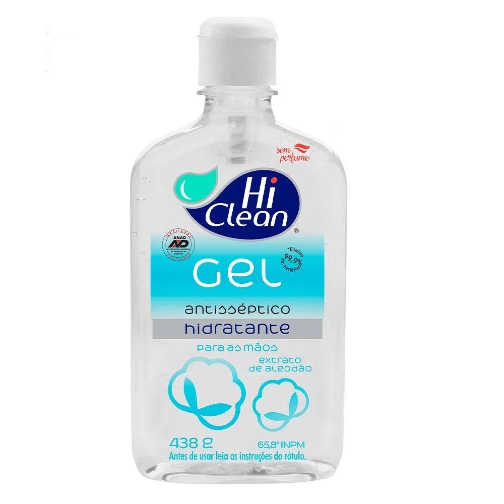 Gel Antisséptico Hi Clean - Extrato de Algodão 500ml 27426