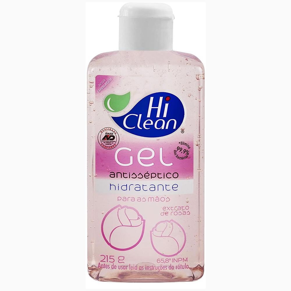 Gel Antisséptico Hi Clean - Extrato de Rosas 250ml 27425