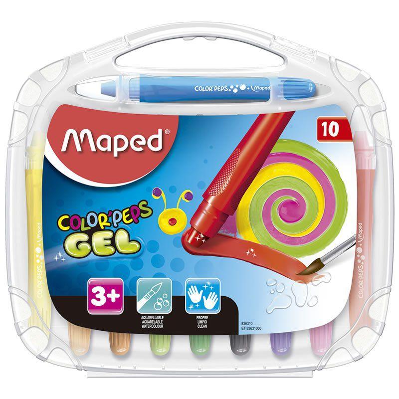 Giz em Gel Macio Maped Aquarelavel Color Peps 10 Cores 836310 26313