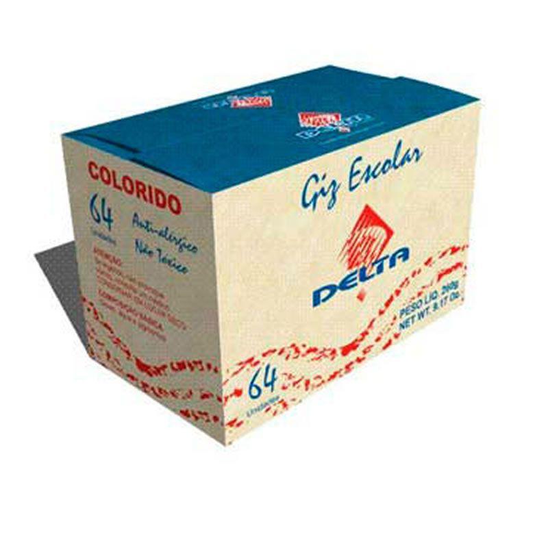 Giz Escolar Delta Colorido Caixa 64 Un 0004 02815