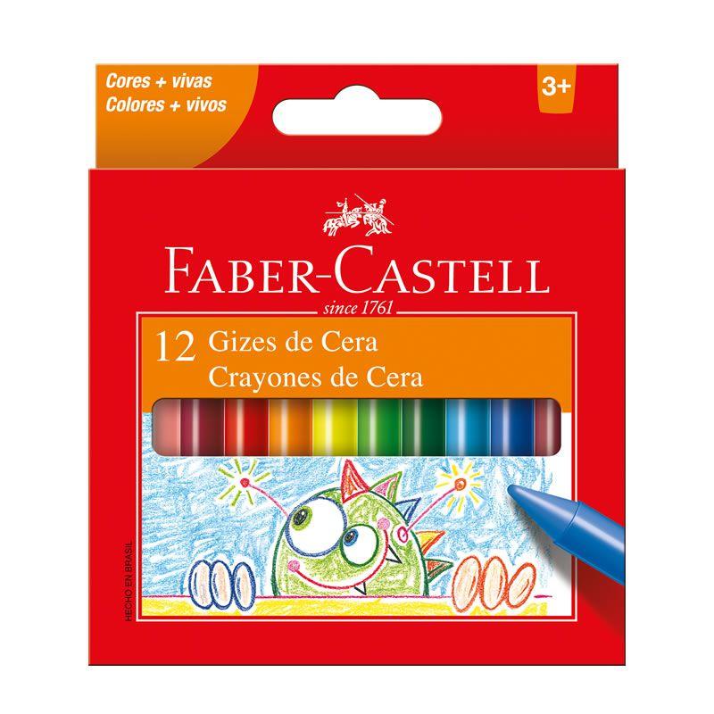 Giz de Cera Faber-Castell Fino 12 Cores 141012N 27569