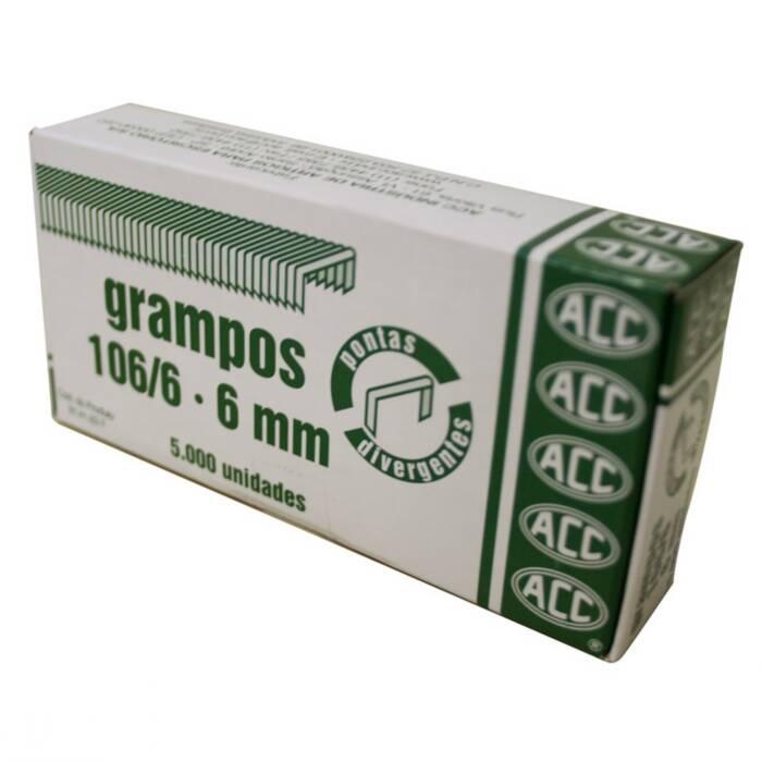 Grampo 106/6 Aço Galvanizado Com 5000 Un. ACC 12658
