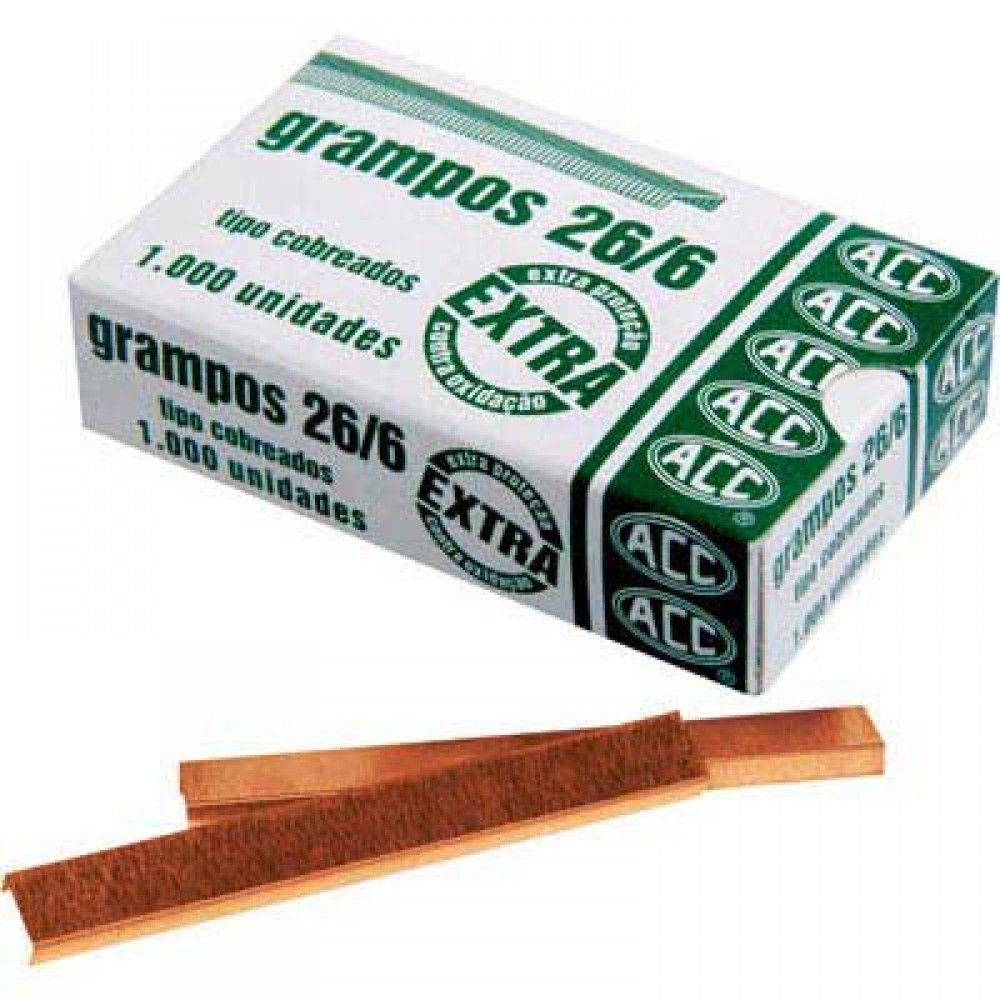 Grampo 26/6 Aço Cobreado 1.000 Un 92413116 07293