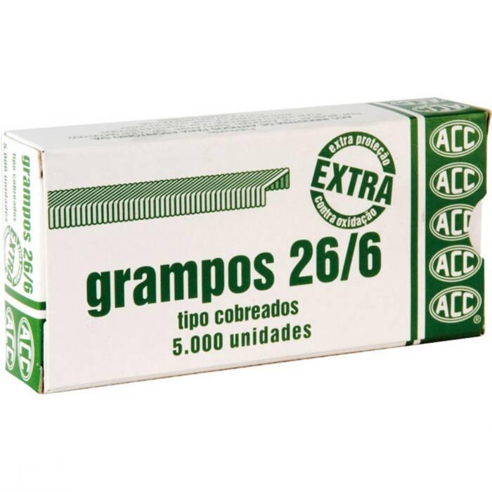 Grampo 26/6 Aço Cobreado Extra Com 5000 Un. ACC 01893