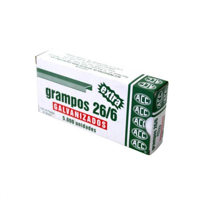 Grampo 26/6 Aço Galvanizado Com 5000 Un. ACC 10770