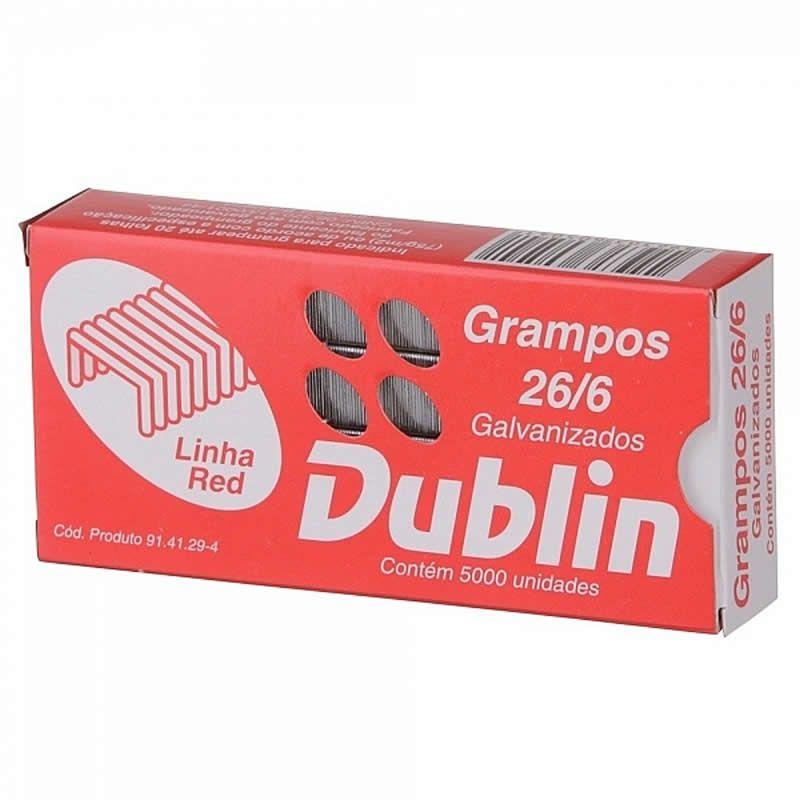 Grampo 26/6 Aço Galvanizado Dublin Caixa Com 5000 Un. ACC 13770