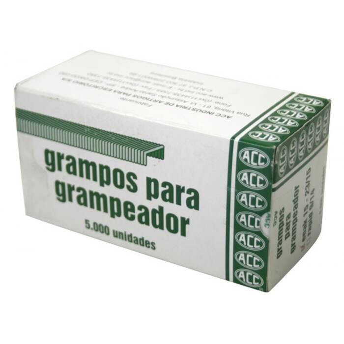 Grampo 23/15 Aço Galvanizado Com 5000 Un. ACC 05021