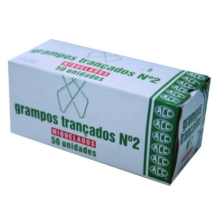 Grampo Trancado 2 Aço Niquelado Caixa Com 50 Un. ACC 02415