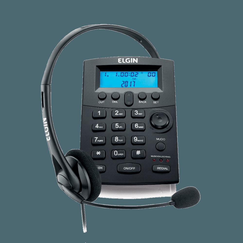 Telefone Elgin Headset com Identificador Preto HST8000 24487