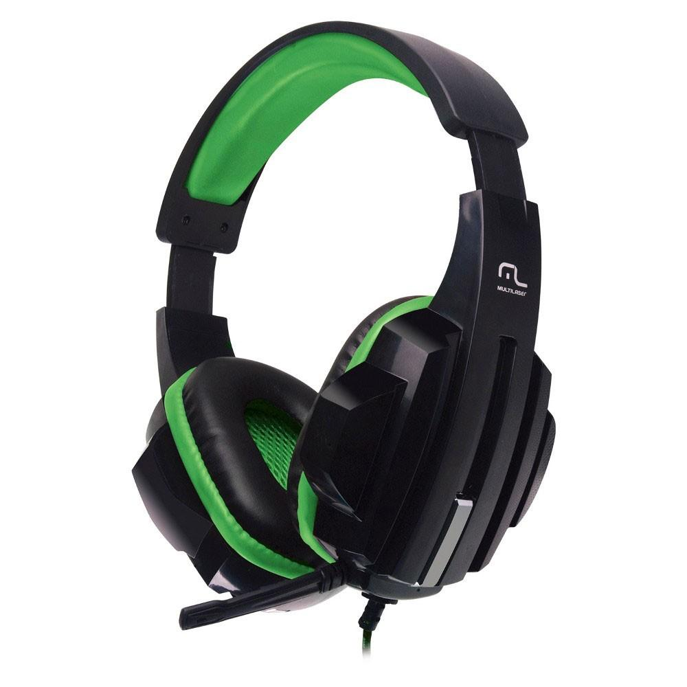 Headset Gamer Multilaser P2 Preto / Verde Cabo Nylon PH123 29729