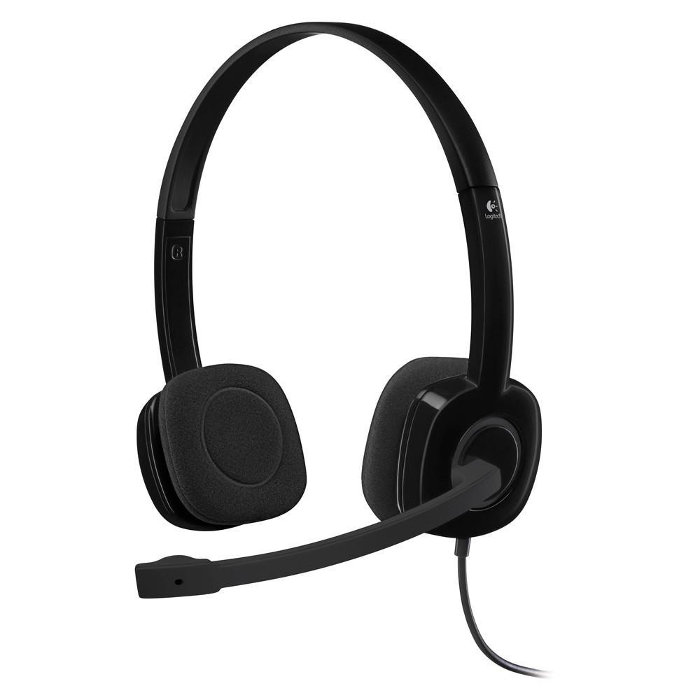 Fone Headset Logitech Com Microfone H151 24952