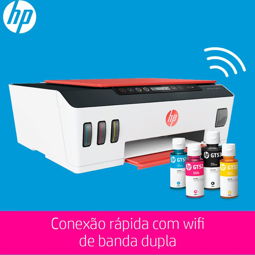 Impressora Multifuncional Smart Tanque de Tinta Wireless 514 (3YW74A) HP 28016