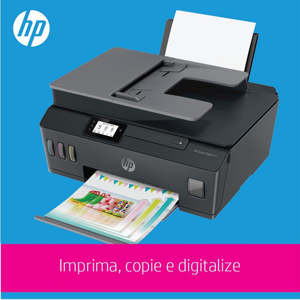 Impressora Multifuncional Tanque de Tinta Wireless 617 (Y0F72A) HP 27552