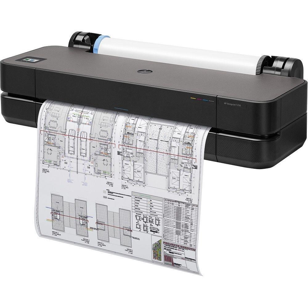 Plotter Hp Designjet T250 5hb06a Jato de Tinta Térmico Colorida Ethernet 110v